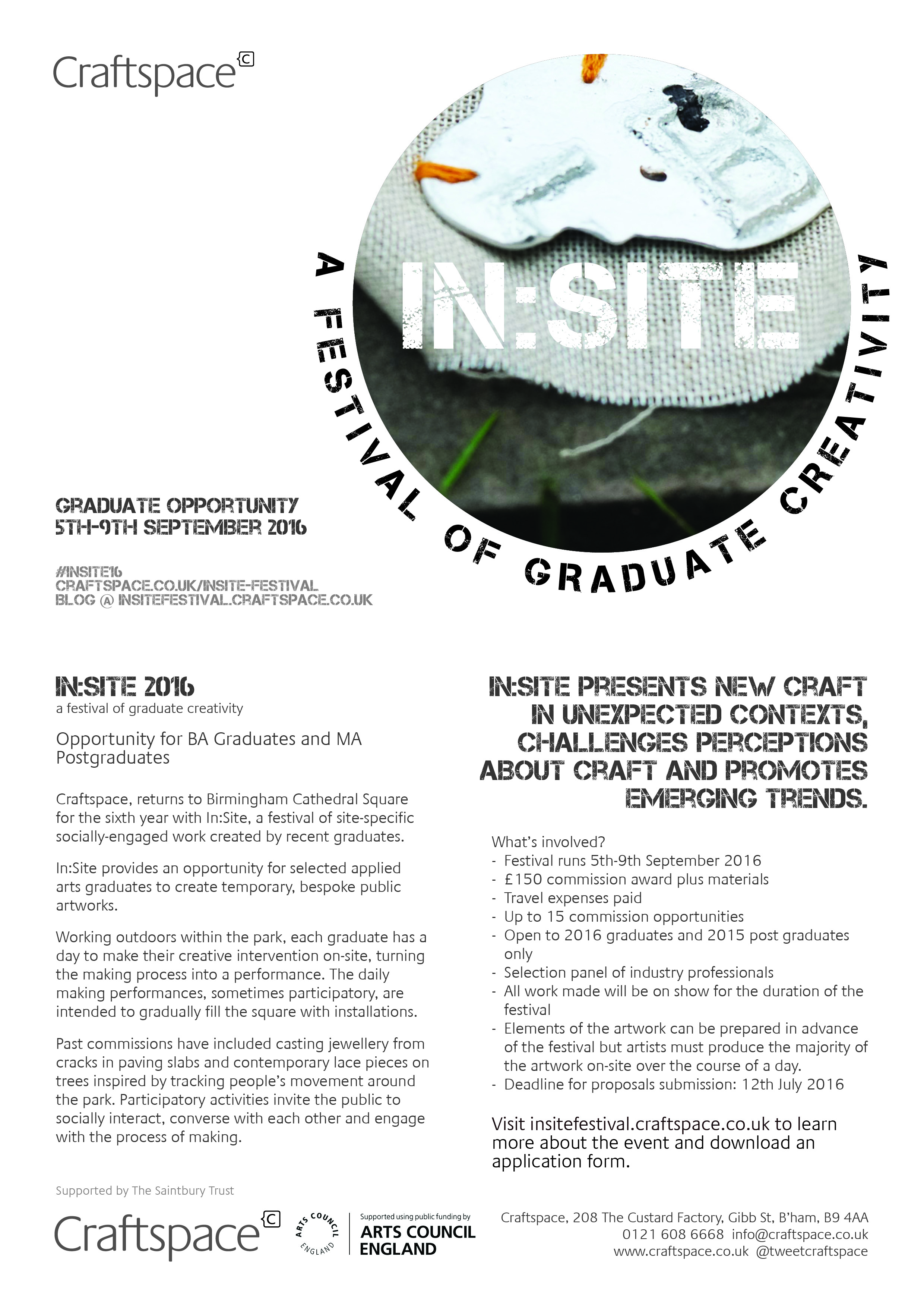 a flyer containing the informatoin on this webpage and the insite logo.