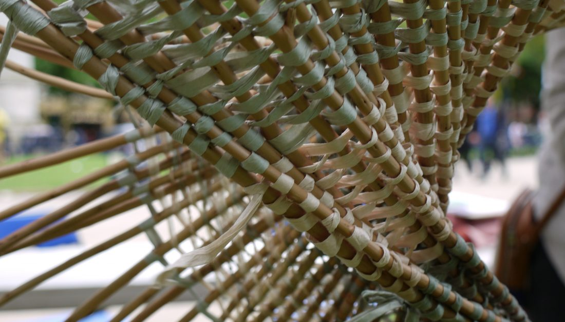 This is the willow weaving techniques.