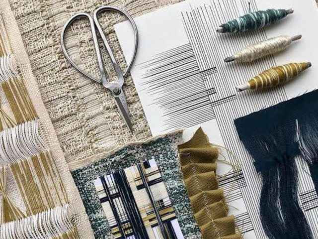 flat lay image of weave and threads